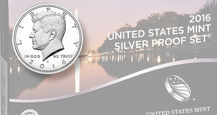 2016-S Silver Proof set goes on sale at noon Eastern Time April 18