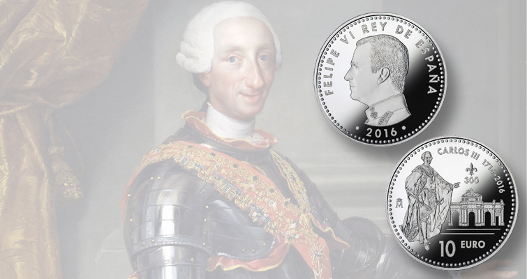 Spain marks royal celebration on Proof 2016 silver €10 coin released on Sept. 26