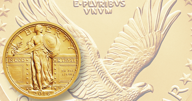 You can now order as many Standing Liberty gold quarter dollars as you want