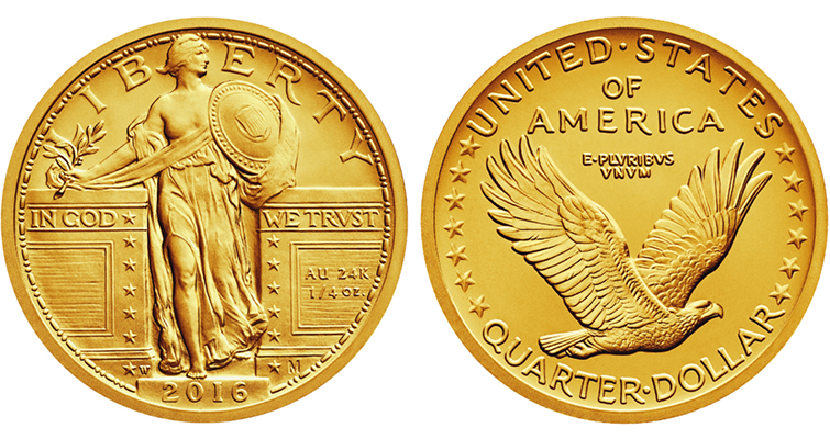 2016 Standing Liberty Centennial gold coin merged
