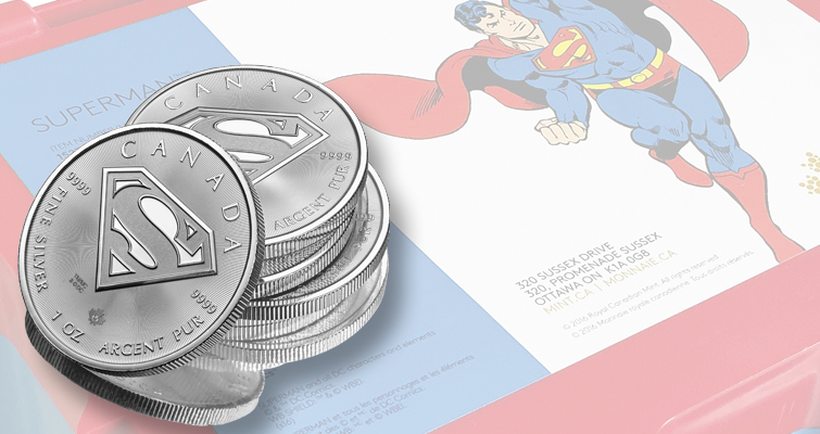 Superman soars on silver bullion coin from Royal Canadian Mint