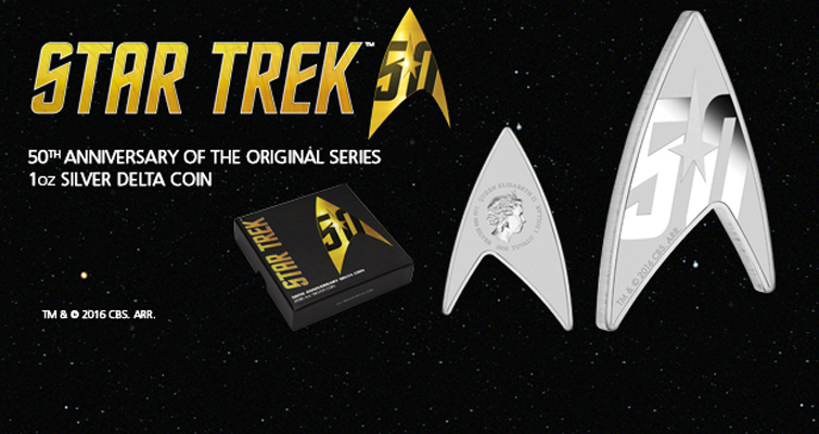 Coins celebrating a 50-year-old television show? Oh, it's Star Trek!