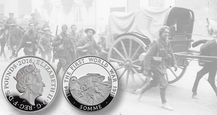 Royal Mint marks Battle of Somme with silver £5 commemorative coin