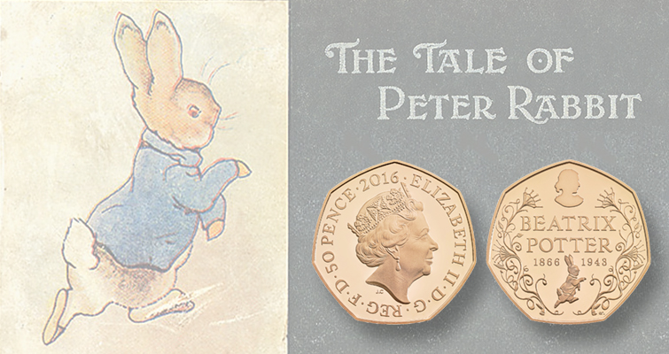 Royal Mint salutes author Beatrix Potter with commemorative 50-penny coin