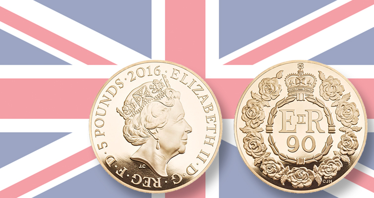 Royal Mint issues coins for Queen Elizabeth II's 90th birthday