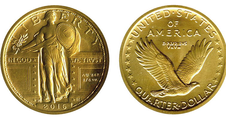 2016-W gold Standing Liberty quarter merged