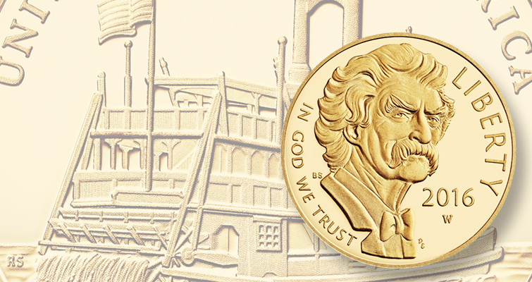 2016-W Mark Twain commemorative gold Proof Lead