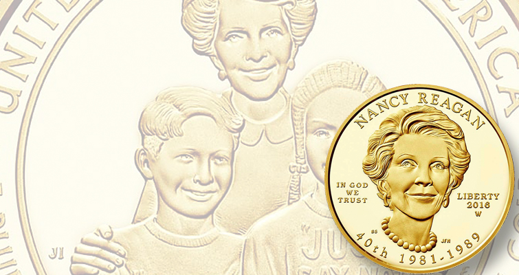 Sales begin July 1 for Nancy Reagan First Spouse gold $10 coins