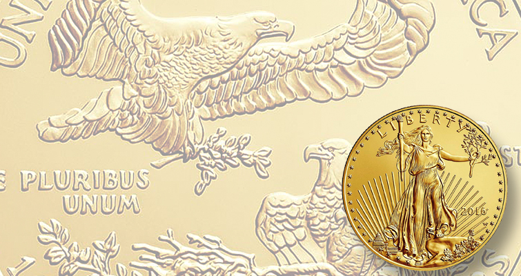 Sales open April 7 for Unc. 2016-W American Eagle gold $50 coin