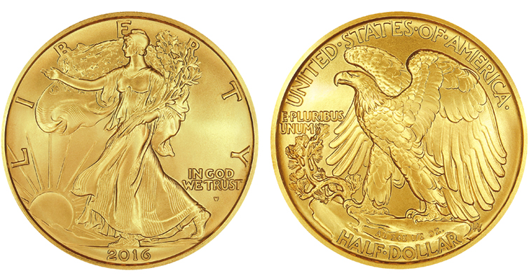 2016-W Walking gold half merged