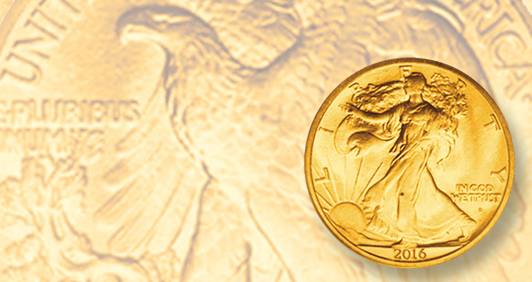 Expect the gold centennial versions of the Walking Liberty half dollar, Standing Liberty quarter dollar, and Winged Liberty Head dime to be popular with collectors in 2016.