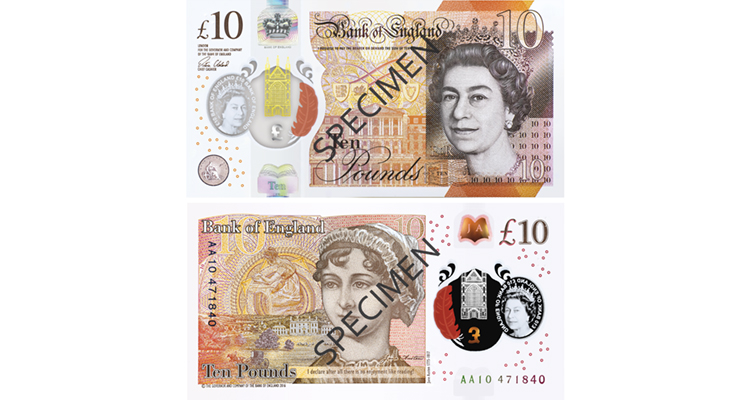 new £10 note honors author Jane Austen