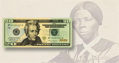 20 dollar Federal Reserve note and Harriet Tubman