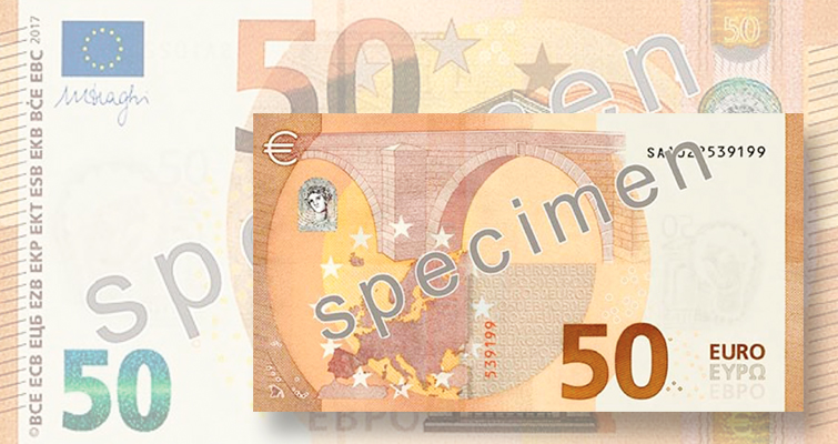 new €50 bank note for 2017