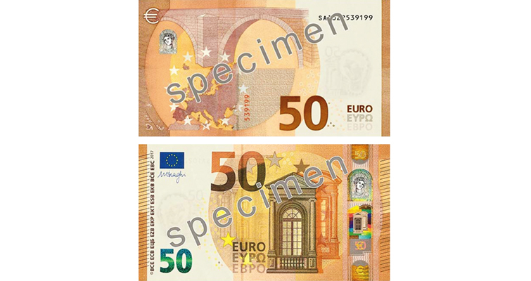new €50 note will enter circulation in the Eurozone in 2017