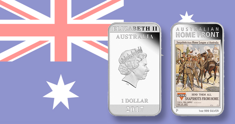 Perth Mint's World War I poster silver dollar series continues