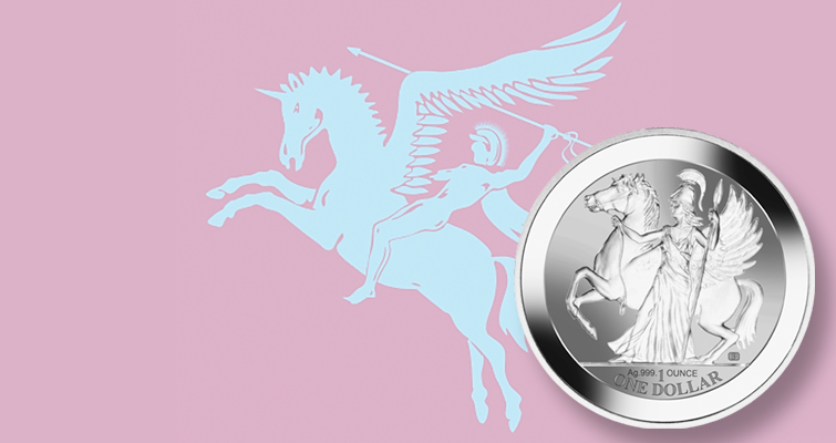 Athena and Pegasus launch on new silver bullion coin from Pobjoy Mint