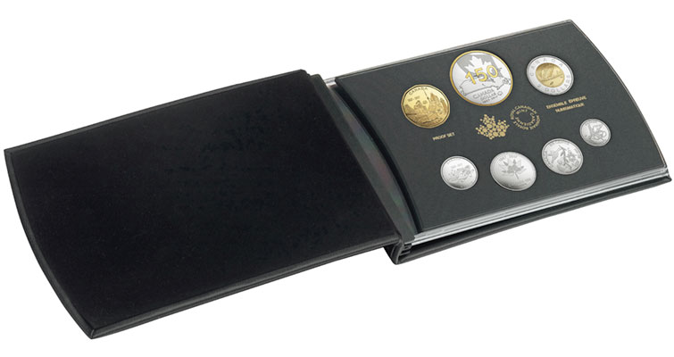 2017-canada-gold-plated-proof-silver-dollar-and-set