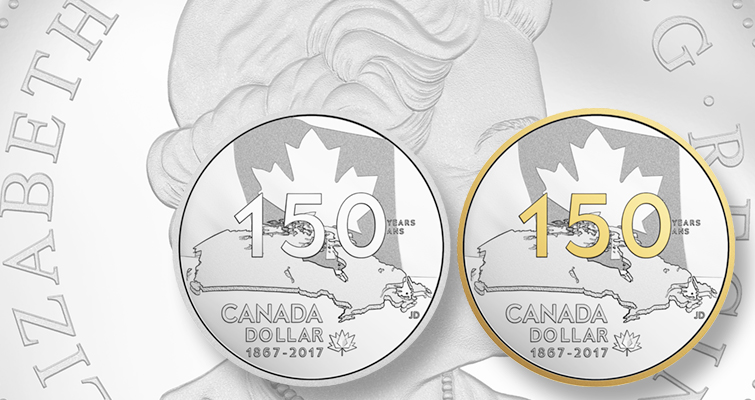 Canada marks 150th anniversary with silver dollar and sets