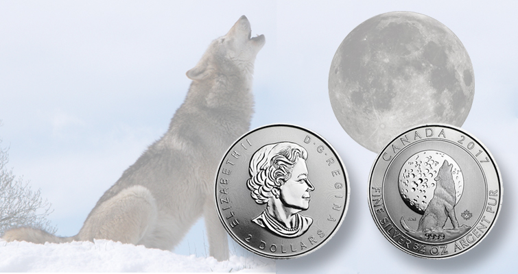 Canada continues Wolf silver $2 bullion coin series with a third issue
