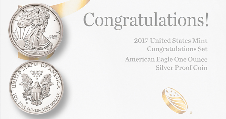 Sufficient orders were placed within the first two minutes of sales of the 2017 Congratulations set to render the numismatic product option