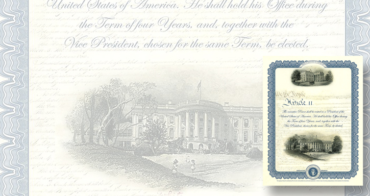 White House appears twice on second of BEP's 2017 intaglio prints
