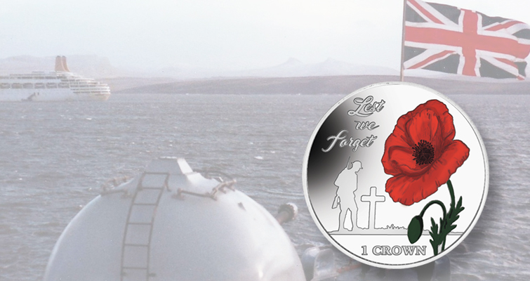 Pobjoy issues Falkland Islands commemorative coins honoring liberation