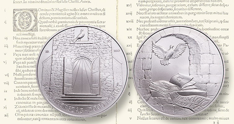 Hungary commemorates Reformation anniversary with two coins