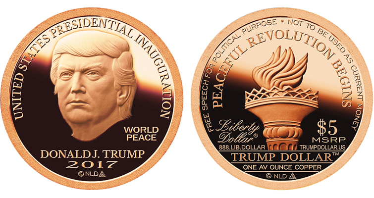 2017 Inaugural Trump dollar copper Proof merged