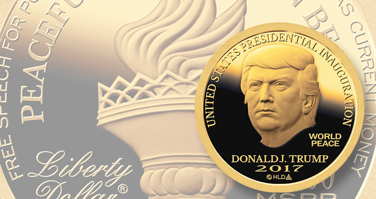 Liberty Dollar creator marks Trump inauguration with a new series