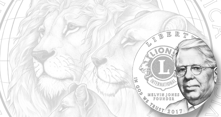 Lions Clubs silver dollar