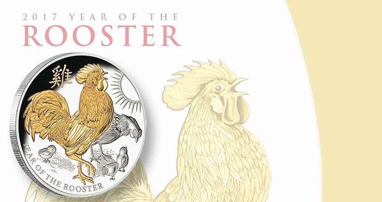 Year of Rooster coin marks dawning of 2017 Lunar issues