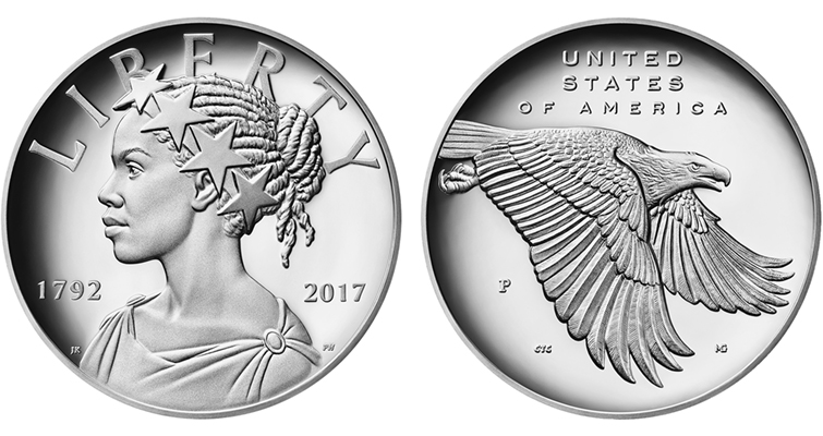 2017-P 225th Anniversary American Liberty silver medal