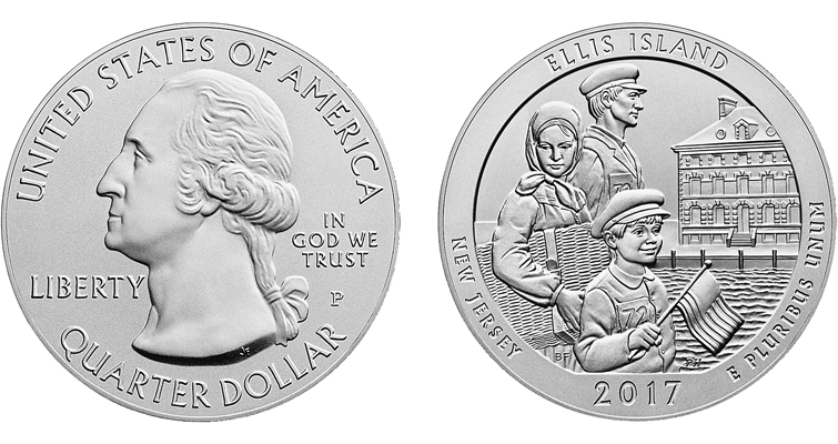2017-P Ellis Island 5-ounce silver merged