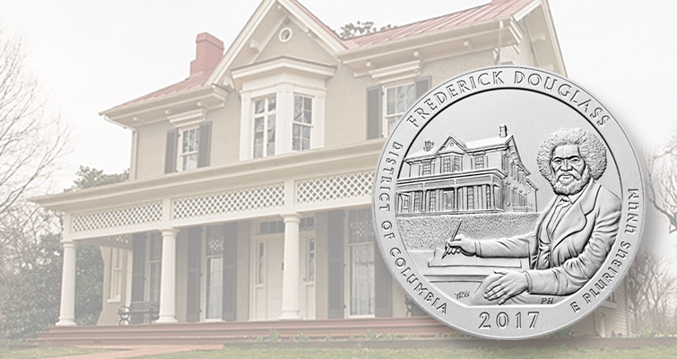 Uncirculated 2017 Frederick Douglass 5-ounce silver coin on sale May 2