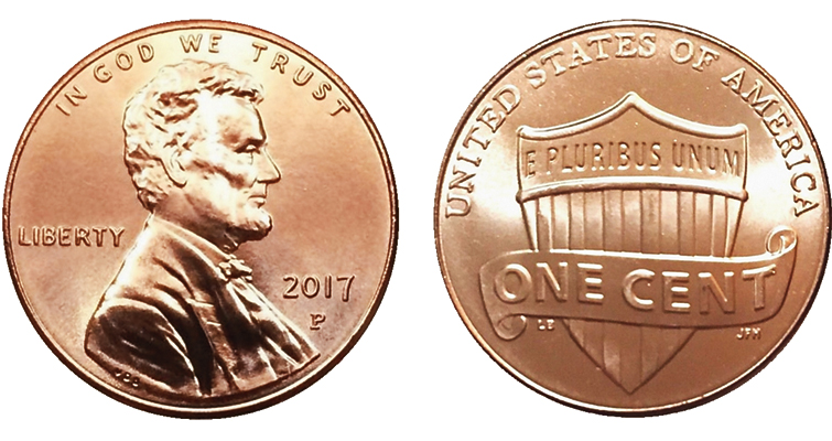 5 Roll Lot! 2017 P Lincoln Cent Pennies First P Mint Mark