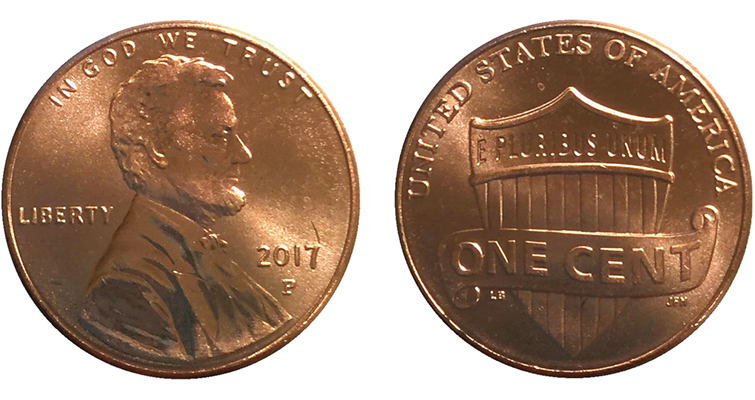 cents are bearing p mint mark for the first time ever