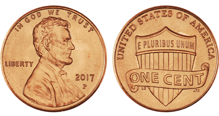 2017-P Lincoln cents began showing up in circulation in Coin World's home city of Sidney, Ohio, during the first week of March.