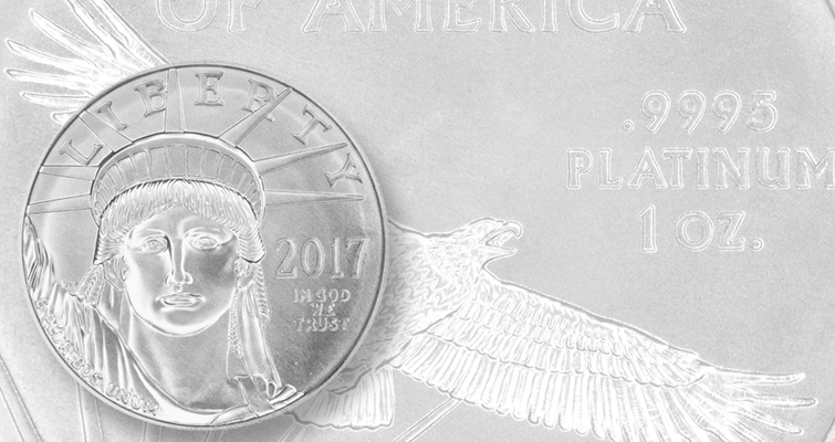U.S. Mint sells 20,000 2017 American Eagle platinum bullion coins first day