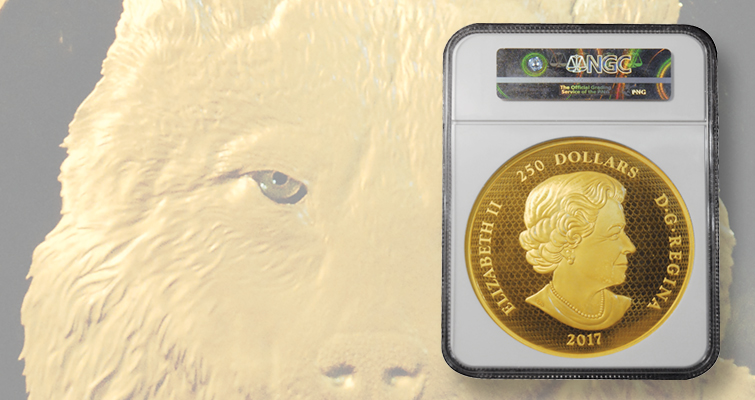 Royal Canadian Mint produces a 2017 Timber Wolf kilo gold mule