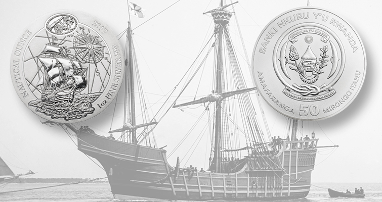 Landlocked Rwanda issues coin with Columbus' Santa Maria