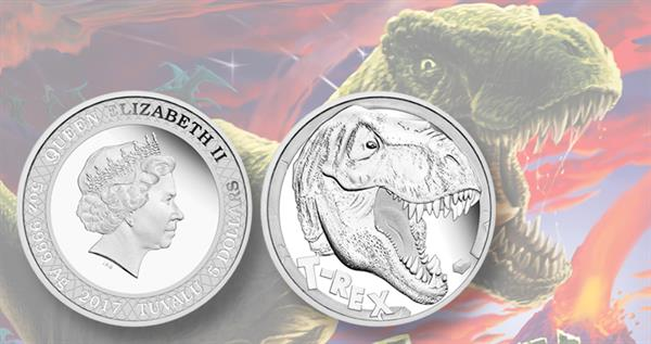 2017-tuvalu-t-rex-five-ounce-silver-proof-coin