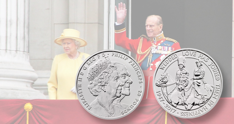 Royal Mint honors royal couple's platinum wedding anniversary with coins