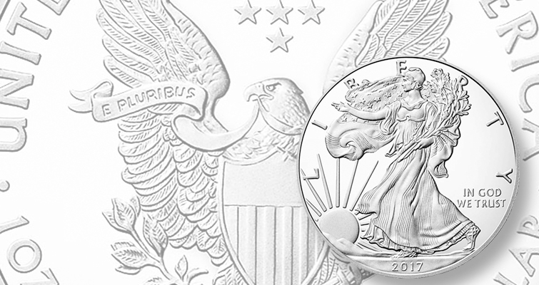 Proof 2017-W American Eagle silver dollar makes March 23 debut