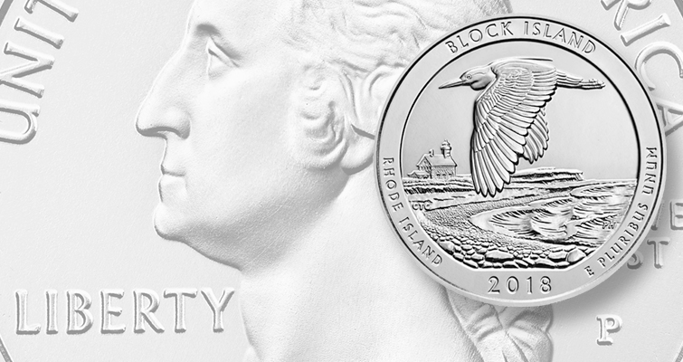 2018 Block Island National Wildlife Refuge quarter dollar