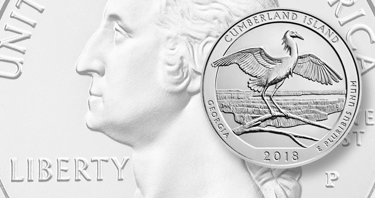 2018 Cumberland National Island Seashore quarter dollar