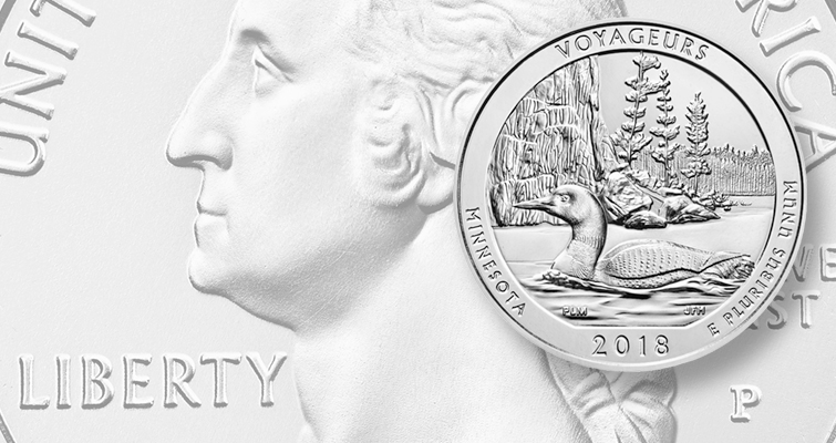 2018 Voyageurs National Park quarter dollar