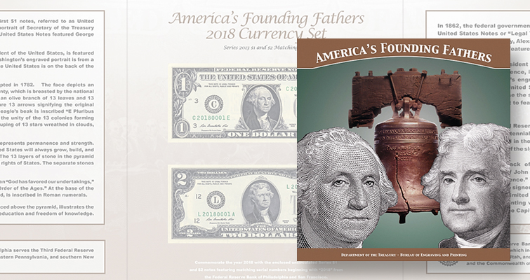 America's Founding Fathers 2018 Currency set lead