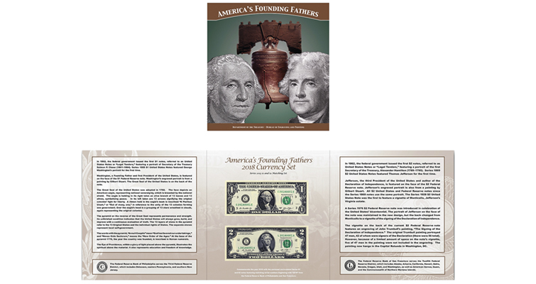America's Founding Fathers 2018 Currency set
