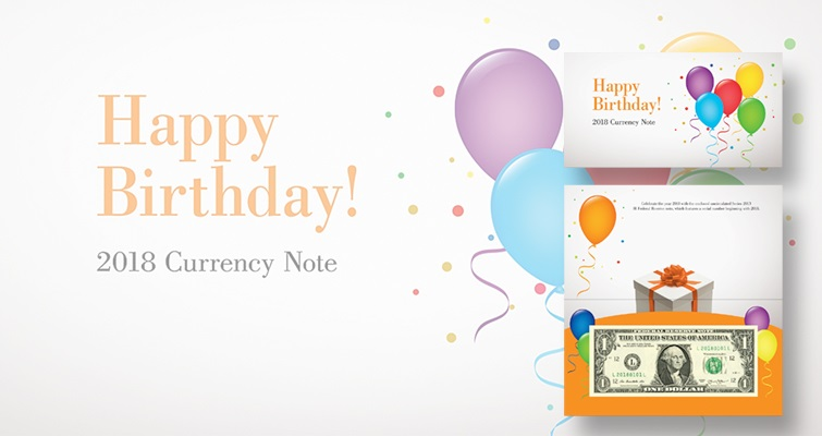 2018 Happy Birthday Currency Note